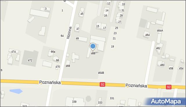 Ołtarzew, Poznańska, 466, mapa Ołtarzew