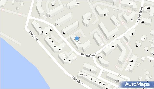 Siedlce, Poznańska, 12, mapa Siedlce