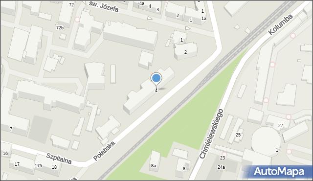 Szczecin, Połabska, 4, mapa Szczecina