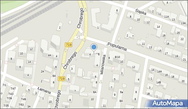 Warszawa, Popularna, 4/6, mapa Warszawy