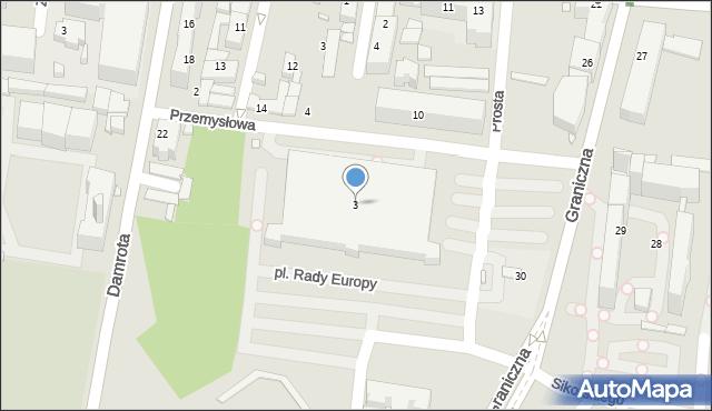 Katowice, Przemysłowa, 3, mapa Katowic