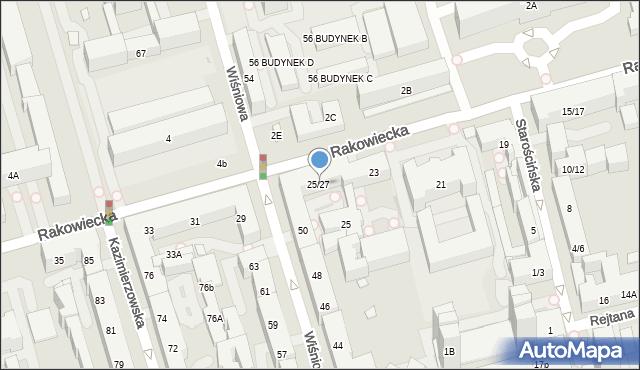 Warszawa, Rakowiecka, 25/27, mapa Warszawy