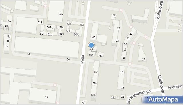 Szczecin, Rydla Lucjana, 66a, mapa Szczecina
