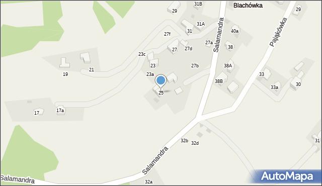 Kościelisko, Salamandra, 25, mapa Kościelisko