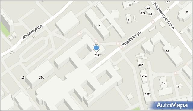 Białystok, Skłodowskiej-Curie Marii, 24A, mapa Białegostoku