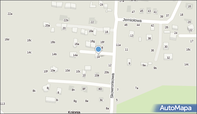 Lublin, Skowronkowa, 14, mapa Lublina