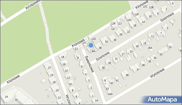 Kołobrzeg, Sosnowa, 44, mapa Kołobrzegu