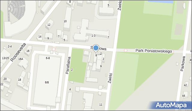 Piotrków Trybunalski, Sosnowa, 4, mapa Piotrków Trybunalski