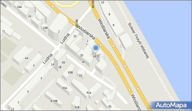 Warszawa, Solec, 18-20, mapa Warszawy