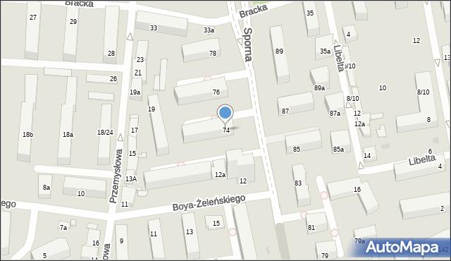 Łódź, Sporna, 74, mapa Łodzi