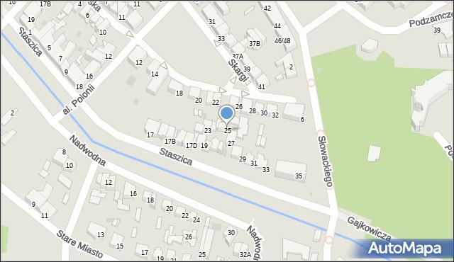 Pułtusk, Staszica, 25, mapa Pułtusk