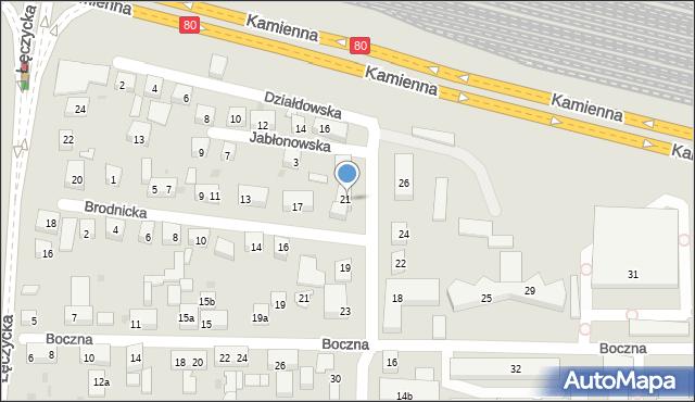 Bydgoszcz, Szajnochy Karola, 21, mapa Bydgoszczy