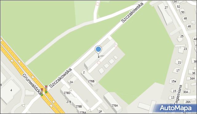 Jaworzno, Szczakowska, 4, mapa Jaworzno