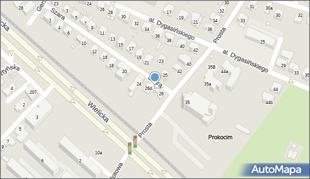 Kraków, Szara, 26b, mapa Krakowa