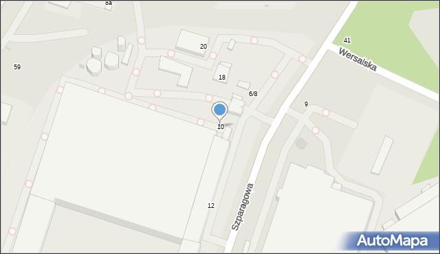 Łódź, Szparagowa, 10, mapa Łodzi