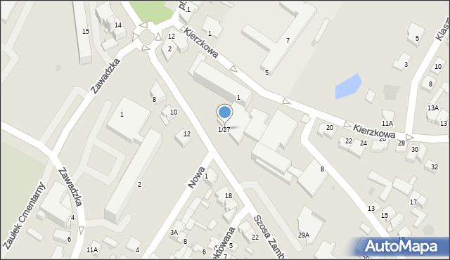 Łomża, Szosa Zambrowska, 1-27, mapa Łomży