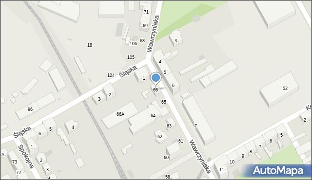Gorzów Wielkopolski, Wawrzyniaka Piotra, 66, mapa Gorzów Wielkopolski