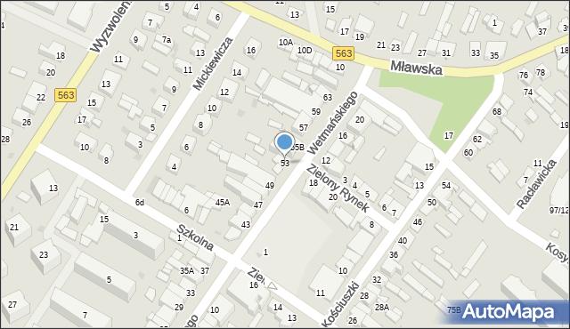 Żuromin, Wetmańskiego L., bp., 53, mapa Żuromin