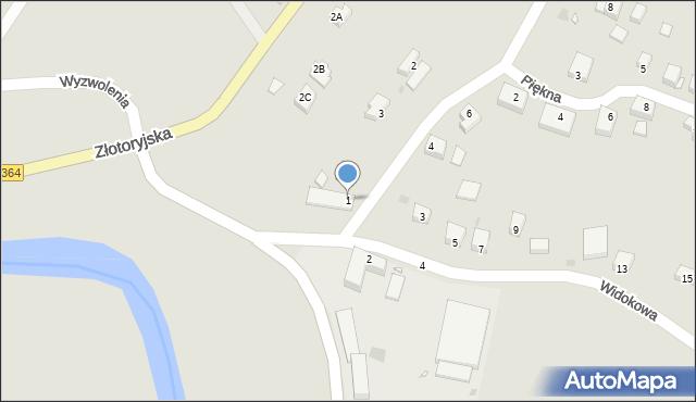 Lwówek Śląski, Widokowa, 1, mapa Lwówek Śląski