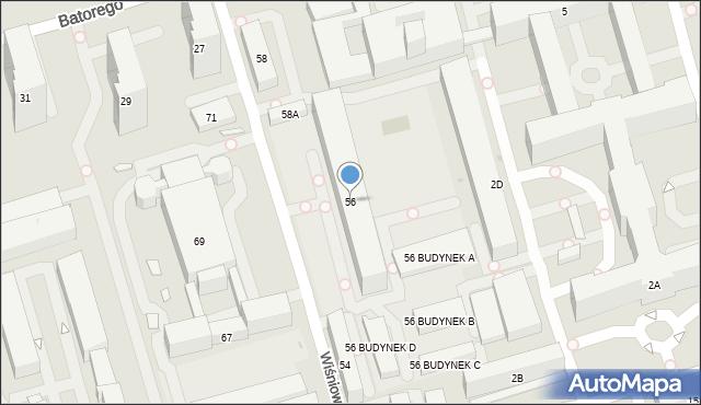 Warszawa, Wiśniowa, 56, mapa Warszawy