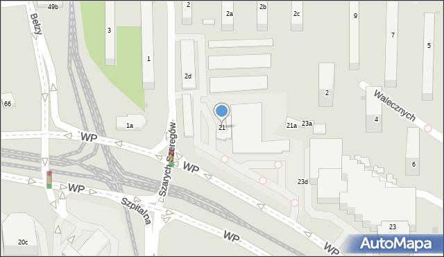 Bydgoszcz, Wojska Polskiego, 21, mapa Bydgoszczy