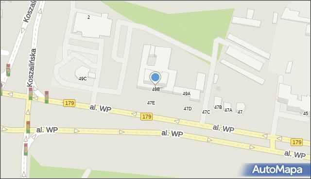 Piła, Wojska Polskiego, al., 49B, mapa Piły