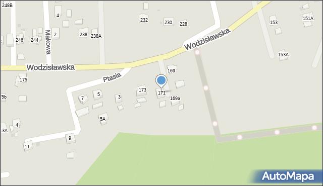 Żory, Wodzisławska, 171, mapa Żor