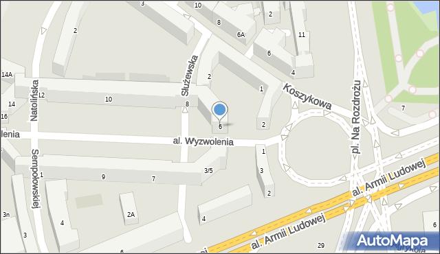 Warszawa, Wyzwolenia, 6, mapa Warszawy