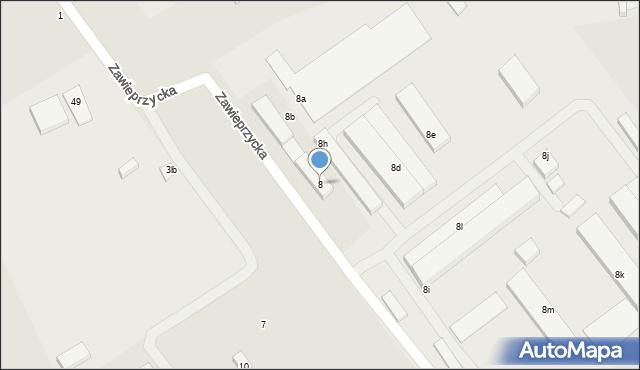 Lublin, Zawieprzycka, 8, mapa Lublina