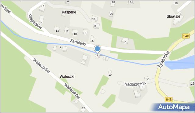 Międzybrodzie Bialskie, Żarnówki, 1, mapa Międzybrodzie Bialskie