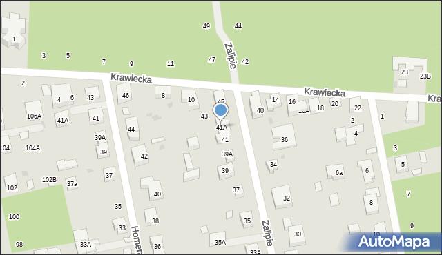 Warszawa, Zalipie, 41A, mapa Warszawy