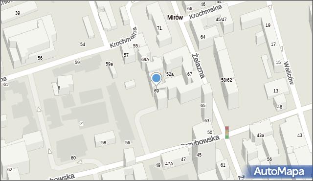 Warszawa, Żelazna, 69, mapa Warszawy