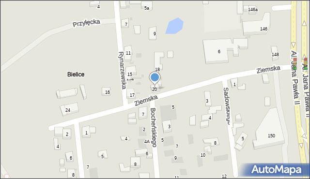 Bydgoszcz, Ziemska, 20, mapa Bydgoszczy