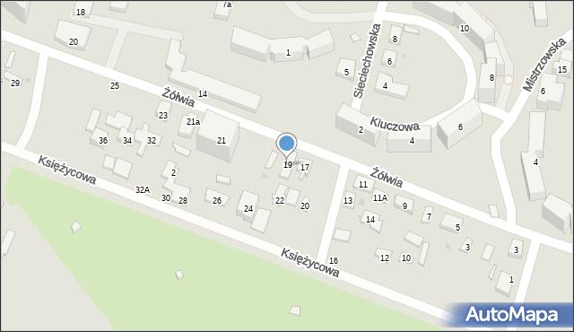 Warszawa, Żółwia, 19, mapa Warszawy