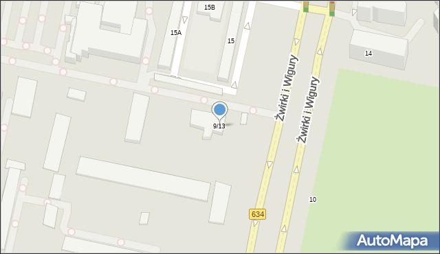 Warszawa, Żwirki i Wigury, 9-13, mapa Warszawy