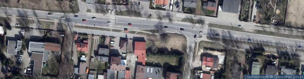 Zdjęcie satelitarne Brzezińska 63/65