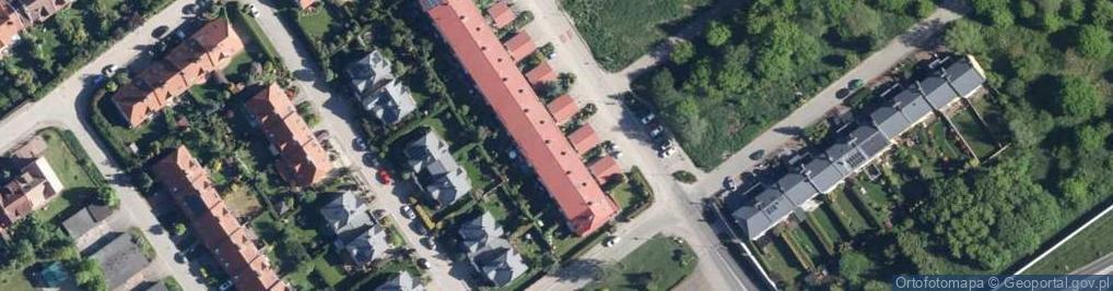 Zdjęcie satelitarne Franciszkańska 117