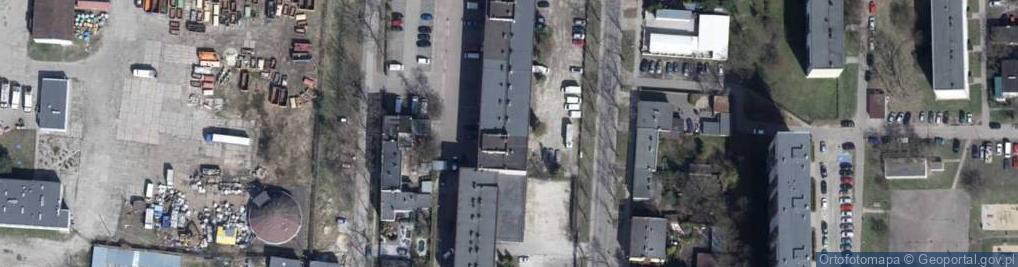 Zdjęcie satelitarne Franciszkańska 104/112