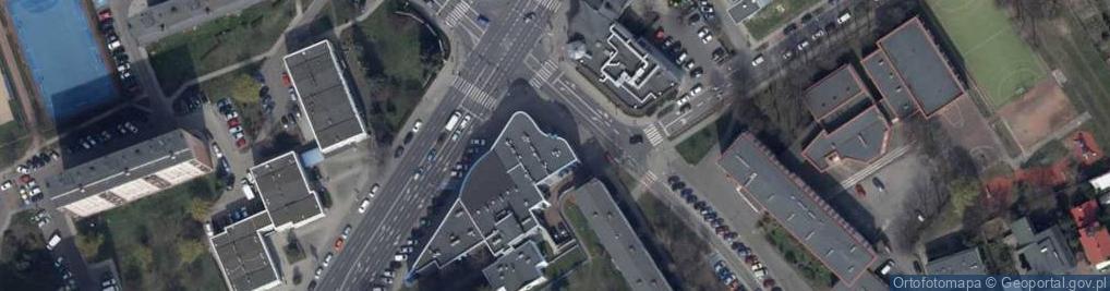 Zdjęcie satelitarne Górnośląska ul.