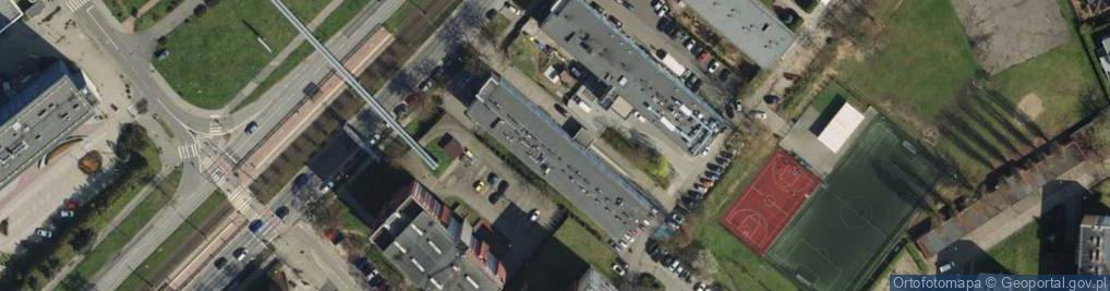 Zdjęcie satelitarne Grunwaldzka 158