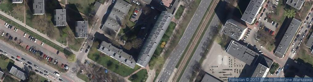 Zdjęcie satelitarne Grójecka 122