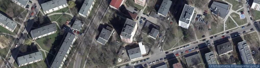 Zdjęcie satelitarne Klonowa 38/40