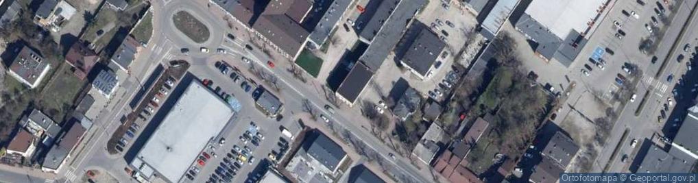 Zdjęcie satelitarne Łaska ul.