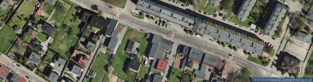 Zdjęcie satelitarne Oświęcimska 86