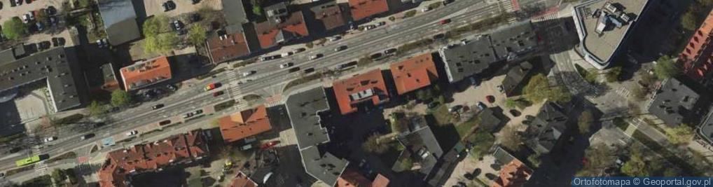 Zdjęcie satelitarne Partyzantów 76