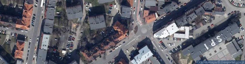 Zdjęcie satelitarne Partyzancka 26
