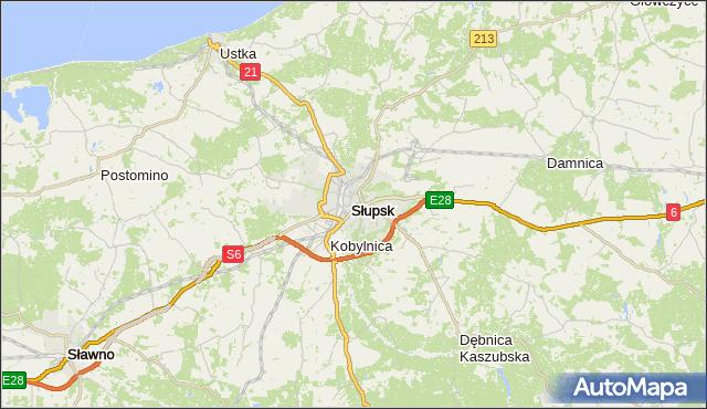 gmina Słupsk - powiat Słupsk na mapie Targeo