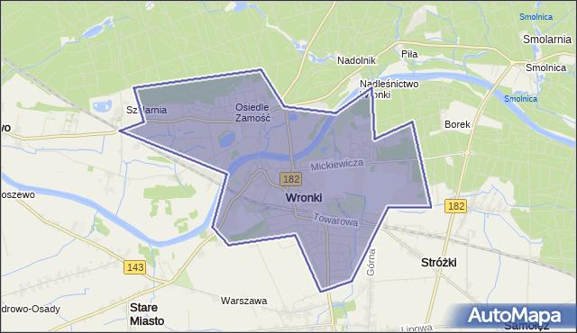 gmina Wronki - powiat szamotulski na mapie Targeo