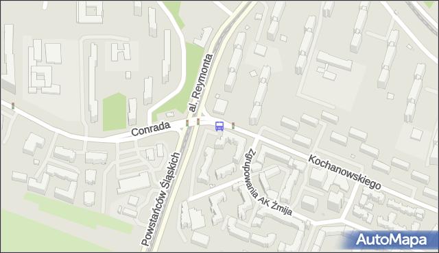 Przystanek CONRADA 03. ZTM Warszawa - Warszawa na mapie Targeo