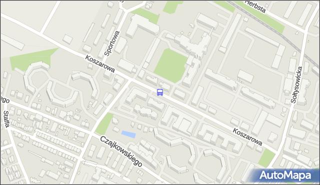Przystanek KOSZAROWA (Szpital). MPKWroclaw - Wrocław na mapie Targeo
